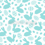 Easter Eggs Rabbits Repeat Pattern