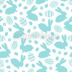 Ostereier Kaninchen Nahtloses Vektormuster