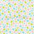Flowers And Easter Eggs Pattern Design