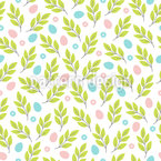 Branches And Easter Eggs Pattern Design