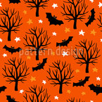 Bats And Stars Vector Ornament