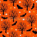 Fledermäuse Und Sterne Vektor Ornament
