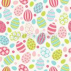 Ostereier Und Blumen Rapportiertes Design