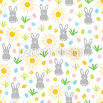Cute Easter Bunnies Repeat Pattern