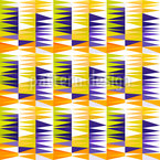 Pointy ZigZag Seamless Vector Pattern Design
