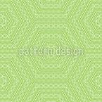 Hexagonal Embellishment Seamless Vector Pattern Design
