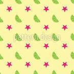 Sterne Und Limonen Muster Design