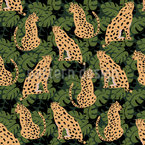 Tame Cheetah Seamless Vector Pattern Design