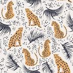 Gepard Unter Palmen Vektor Muster