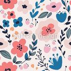 Wildblumenblüte Nahtloses Vektormuster