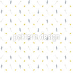 Scattered Spring Field Seamless Vector Pattern Design