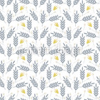 Fantasy Harvest Field Seamless Vector Pattern Design
