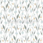 Fresh Spring Bloom Seamless Vector Pattern Design