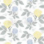 Blooming Spring Field Seamless Vector Pattern Design