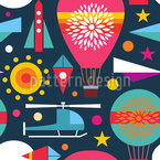 A Childish World Seamless Vector Pattern