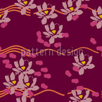 Lotus Liebe Bordeaux Seamless Vector Pattern Design