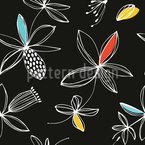 Netzartige Blumen Nahtloses Vektormuster