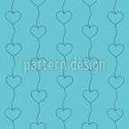 Interconnected Hearts Seamless Vector Pattern Design