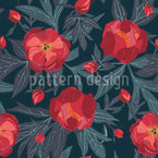 Bright Peonies Seamless Vector Pattern Design