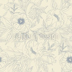 Elegant Peonies Seamless Vector Pattern Design