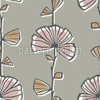 Myrtle Floral Seamless Vector Pattern Design