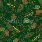 Hallow Leafes Seamless Vector Pattern Design