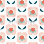 シンプルなミニマリストの花 シームレスなベクトルパターン設計