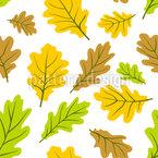 Königliche Blätter Nahtloses Vektor Muster