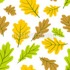 Royal Leaves Seamless Vector Pattern