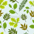 Blättermischung Nahtloses Vektormuster