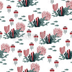 Moody Coral Reef Repeat Pattern