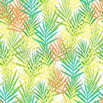 Tropischer Blattzaun Nahtloses Vektormuster