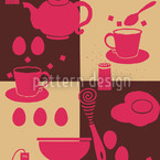Breakfast Table Seamless Vector Pattern Design