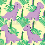 Baby Dinosaurs Seamless Vector Pattern Design