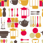 Kitchen Hada Rosa Estampado Vectorial Sin Costura
