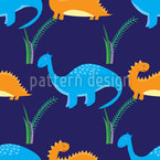 Dinosaur Journey Seamless Vector Pattern Design
