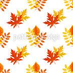 Wärme der Blätter Nahtloses Vektormuster