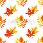 Warmth Of Leaves Vector Pattern