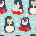 Penguin Kids Seamless Vector Pattern Design