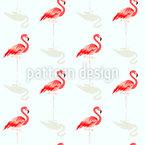 Flamingo-Freund Nahtloses Vektormuster