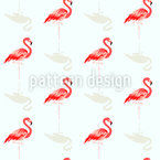Flamingo Friend Seamless Pattern