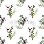 Bouquet Naturel Motif Vectoriel Sans Couture