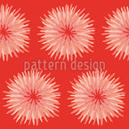 Dahlia Orange Seamless Vector Pattern Design