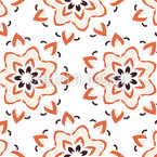 Blühende Mandalas Musterdesign
