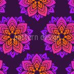 Blühendes Mandala Vektor Ornament