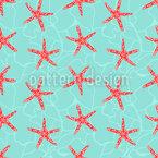 Starfish Farm Seamless Vector Pattern
