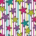 Барби Цветы Бесшовный дизайн векторных узоров
