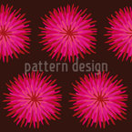 Dahlia Pink Seamless Vector Pattern Design