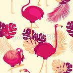Flamingos Posen Nahtloses Vektormuster