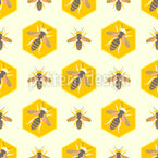 Honey Bee Combs Seamless Pattern